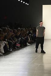 September 12, 2018 - New York, New York, U.S - September, 2018 - New York, New York  U.S. - Designer HOGAN MCLAUGHLIN on the runway at the HOGAN MCLAUGHLIN S/S 2019 RTW show during New York Fashion Week 2018.  (Credit image (c) Theano Nikitas/ZUMA Wire/ZUMAPRESS.com (Credit Image: © Theano Nikitas/ZUMA Wire)