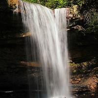 """Morning Lights the Falls""<br /> <br /> Beautiful morning light shines on Cucumber Falls."