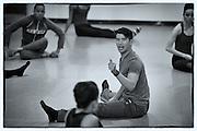 Choreographer Chris Vo with Dallas Black Dance Theatre company on May 7, 2014 at Dallas Black Dance Theatre studio in Dallas, Texas.