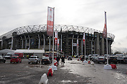Twickenham, United Kingdom.    General View of the Stadium, from the North Car Park.  RBS, Six Nations : England vs France. at the  RFU Stadium, Twickenham, England, <br /> <br /> Saturday  04/02/2017<br /> <br /> [Mandatory Credit; Peter Spurrier/Intersport-images]