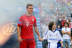 11.07.2015, Alianz Arena, Muenchen, GER, 1. FBL, FC Bayern Muenchen, Teampräsentation, im Bild Joshua Kimmich #32 (FC Bayern Muenchen) kommt in die Arena // during the Teampresentation of German Bundesliga Club FC Bayern Munich at the Alianz Arena in Muenchen, Germany on 2015/07/11. EXPA Pictures © 2015, PhotoCredit: EXPA/ Eibner-Pressefoto/ Kolbert<br /> <br /> *****ATTENTION - OUT of GER*****