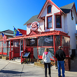 Rehoboth Beach, DE, USA - March 11, 2012: A Seafood Restaurant in Rehoboth Beach