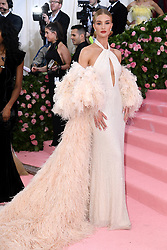 """Rosie Huntington-Whiteley at the 2019 Costume Institute Benefit Gala celebrating the opening of """"Camp: Notes on Fashion"""".<br />(The Metropolitan Museum of Art, NYC)"""