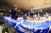 DESCRIZIONE : Reggio Emilia Campionato Lega A 2014-15 Grissin Bon Reggio Emilia Dinamo Banco di Sardegna Sassari<br /> GIOCATORE : Romeo Sacchetti<br /> CATEGORIA : Allenatore Coach PreGame Pre Game Riscaldamento<br /> SQUADRA : Dinamo Banco di Sardegna Sassari<br /> EVENTO : Campionato Lega A 2014-15<br /> GARA : Grissin Bon Reggio Emilia Dinamo Banco di Sardegna Sassari<br /> DATA : 12/04/2015<br /> SPORT : Pallacanestro <br /> AUTORE : Agenzia Ciamillo-Castoria/A.Giberti<br /> Galleria : Campionato Lega A 2014-15  <br /> Fotonotizia : Reggio Emilia Campionato Lega A 2014-15 Grissin Bon Reggio Emilia Dinamo Banco di Sardegna Sassari<br /> Predefinita :