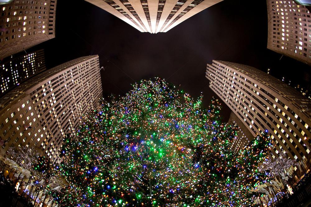 New York, New York. Etats Unis. 16 Decembre 2010.Rockefeller Center..New York, New York. United States. December 16th 2010.Rockefeller Center..