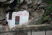 A eunuk's home build into the rocks near the Pashupatinath Temple complex in Kathmandu.