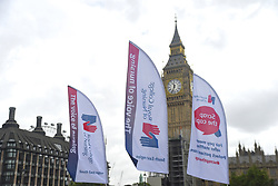 September 6, 2017 - London, United Kingdom - A demonstration took place at Parliament Square against the government's pay cap on public sector workers, London on September 6, 2017. The Royal College of Nursing (RCN), leading the demonstration, has warned its members could be willing to strike unless the limit is removed. (Credit Image: © Alberto Pezzali/NurPhoto via ZUMA Press)