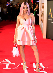 Munroe Bergdorf attending the UK Premiere of A Star is Born held at the Vue West End, Leicester Square, London.