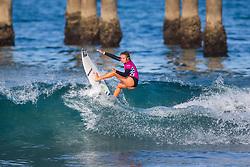 Summer Macedo (USA) advances to the Quarterfinals of the 2918 Junior Women's VANS US Open of Surfing after winning Heat 1 of Round 1 at Huntington Beach, CA, USA.