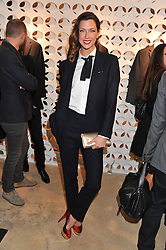 MARGOT STILLEY at the launch of the Spencer Hart Flagship store, Brook Steet, London on 13th September 2011.