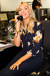 © Licensed to London News Pictures. 11/09/2017. HOLLY WILLOUGHBY takes part in the on the annual BGC Partners Charity Day in commemoration of its 658 friends and colleagues and 61 Eurobroker employees lost in the World Trade Center attacks on 9/11. PIcture Credit: Tang/LNP