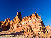 Morning view of a Moenave Sandstone formation in the Adeii Echii Cliffs of Coconino County, Arizona.