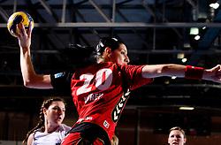 Alja Koren of Krim during 2nd Round of Group 1 at Women Champions League handball match between RK Krim Mercator, Ljubljana and HC Leipzig, Germany on February 13, 2010 in Arena Kodeljevo, Ljubljana, Slovenia. Krim defeated  Leipzig 32-26. (Photo by Vid Ponikvar / Sportida)