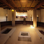 Restored ceromonial kiva in Aztec Ruins National Monument, NM.