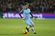 David Silva of Manchester City in action. Premier league match, West Ham Utd v Manchester city at the London Stadium, Queen Elizabeth Olympic Park in London on Wednesday 1st February 2017.<br /> pic by John Patrick Fletcher, Andrew Orchard sports photography.