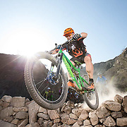 A trails rider in the Hatta Mountains about an hour outside of Dubai.