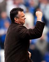 Photo: Glyn Thomas.<br />Birmingham City v Aston Villa. The Barclays Premiership.<br />16/10/2005.<br /> Aston Villa's manager David O'Leary celebrates his team's 1-0 win.