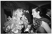 Leah Jensen Rambough, Elena Kissel, Wang wedding, Plaza hotel, New York 1989© Copyright Photograph by Dafydd Jones 66 Stockwell Park Rd. London SW9 0DA Tel 020 7733 0108 www.dafjones.com