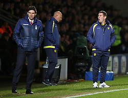 Nottingham Forest manager Aitor Karanka and Burton Albion's manager Nigel Clough react from the touchline, during the Carabao Cup, Fourth Round match at the Pirelli Stadium, Burton.