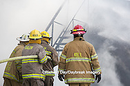 63818-02519 Firefighters at oilfield tank training, Marion Co., IL
