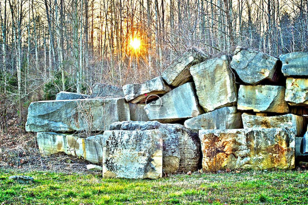 Woolery Mill Quarry Stones Limestone HDR