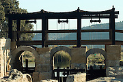Israel, Maagan Michael, Nahal Taninim - crocodile river national park, The ancient floodgate device December 2006