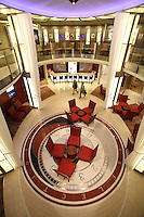 Celebrity Reflection departs on its preview sailing out of The Netherlands before beginning its European inaugural sailing on 12th October 2012 from Amsterdam..A foyer.