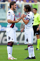 Davide Astori, Daniele Conti Cagliari <br /> Firenze 15-09-2013 Stadio Artemio Franchi <br /> Football Calcio Campionato Italiano Serie A<br /> Fiorentina - Cagliari <br /> Foto Andrea Staccioli Insidefoto<br /> <br /> Fiorentina captain Davide Astori dies suddenly aged 31 . <br /> Astori was staying a hotel with his team-mates ahead of their game on Sunday away at Udinese when he passed away. <br /> Foto Insidefoto