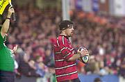 Gloucester, Gloucestershire, UK., 04.01.2003, Hooker Olivier Azam, during, Zurich Premiership Rugby match, Gloucester vs London Wasps,  Kingsholm Stadium,  [Mandatory Credit: Peter Spurrier/Intersport Images],