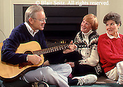 Active Aging Senior Citizens, Retired, Activities, Elderly Sing and Play Guitar, Staying Young, Active Minds