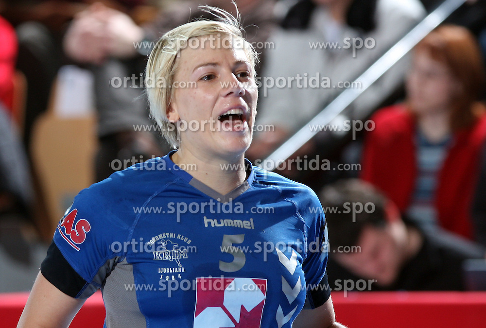 Dijana Golubic at EHF Champions league handball match in Group II between RK Krim Mercator and Gyori Audi Eto KC, on February 7, 2009, in Kodeljevo, Ljubljana, Slovenia. Gyori won 35:31. (Photo by Vid Ponikvar / Sportida)