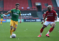 Preston North End's Sean Maguire takes on Bristol City's Ashley Williams<br /> <br /> Photographer Ian Cook/CameraSport<br /> <br /> The EFL Sky Bet Championship - Bristol City v Preston North End - Wednesday July 22nd 2020 - Ashton Gate Stadium - Bristol <br /> <br /> World Copyright © 2020 CameraSport. All rights reserved. 43 Linden Ave. Countesthorpe. Leicester. England. LE8 5PG - Tel: +44 (0) 116 277 4147 - admin@camerasport.com - www.camerasport.com