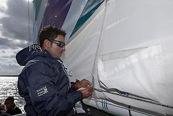 Yassir Al Rahbi (OMA) on Oman Sail's MOD70 Musandam during Kiel week 2014, 22-06-2014, Kiel - Germany.