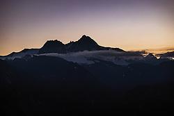THEMENBILD - Der Grossglockner (Glockner), höchster Berg Österreichs (3798m) im ersten Tageslicht noch vor Sonnenaufgang, am Sonntag 08. August 2020, Kals am Großglockner, Nationalpark Hohe Tauern, Österreich // The Grossglockner (Glockner), Austria's highest mountain (3798m) at dawn before sunrise. Sunday 9 August 2020, Kals am Grossglockner Hohe Tauern National Park. EXPA Pictures © 2020, PhotoCredit: EXPA/ Johann Groder