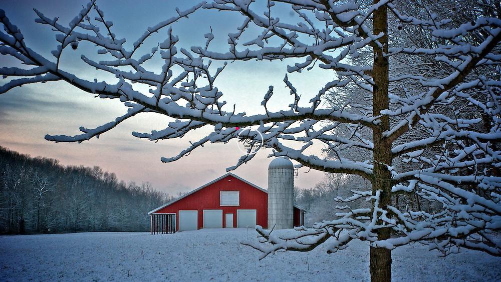 Red Barn Snow No. 2