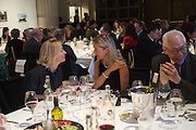 NADJA SWAROVSKI and IWONA BLAZWICK at the Whitechapel Gallery Art Icon 2015 Gala dinner supported by the Swarovski Foundation. The Banking Hall, Cornhill, London. 19 March 2015