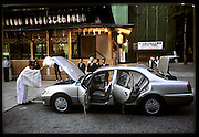 The blessing of a new car at Yasaka-Jinja Shrine, Kyoto, Japan. (Supporting image from the project Hungry Planet: What the World Eats.)