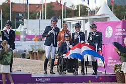 Team Netherlands, Hosmar Frank, Den Dulk Nicole, Krijnsen Lotte, Voets Sanne<br /> FEI European Para Dressage Championships - Goteborg 2017 <br /> © Hippo Foto - Dirk Caremans<br /> 22/08/2017,