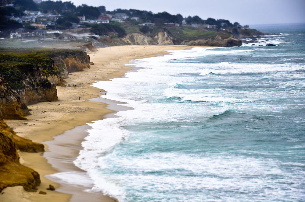 California coastline on the south of San Francisco, CA