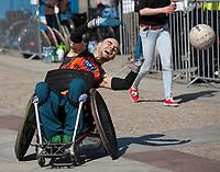 28.04.2012 Bialystok Pokazowy mecz rugby na wozkach inwalidzkich fot Michal Kosc / AGENCJA WSCHOD