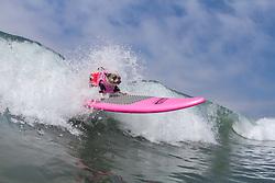 July 29, 2017 - Imperial Beach, CA, US - Surfdog returns to Imperial Beach for the twelfth  year...Cherie surfing. (Credit Image: © Daren Fentiman via ZUMA Wire)