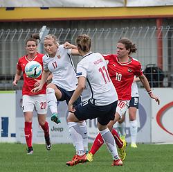 10.04.2016, Vorwärts Stadion, Steyr, AUT, UEFA Frauen EM Qualifikation, Oesterreich vs Norwegen, Gruppe 8, im Bild v.l. Lene Mykjaland (NOR) und Nina Burger (AUT) // f.l.t.r. Lene Mykjaland of Norway and Nina Burger of Austria during womens UEFA Euro qualifier, group 8 match between Austria and Norway at the Vorwärts Stadion in Steyr, Austria on 2016/04/10. EXPA Pictures © 2016, PhotoCredit: EXPA/ Reinhard Eisenbauer