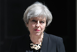 Prime Minister Theresa May makes a statement in Downing Street after chairing a meeting of the Government's emergency Cobra committee following last night's terrorist incident in London.