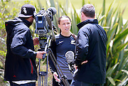 Ferns Daisy Cleverley being interviewed by TV One. Football Ferns Media and Training Session, QBE Stadium Auckland, Wednesday 12th November 2014. Photo: Shane Wenzlick