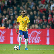 Brazil's Fernandinho during their a international friendly soccer match Turkey betwen Brazil at Sukru Saracoglu Arena in istanbul November 12, 2014. Photo by Aykut AKICI/TURKPIX