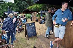 Latitude Festival 2017, Henham Park, Suffolk, UK. New for 2017, Alchemy gin & tonic bar sponsored by Schweppes.