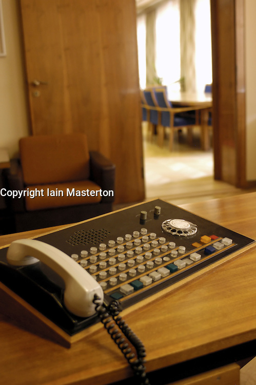 Details from interior of office of former Stasi East German state secret police headquarters now museum in Berlin 2009