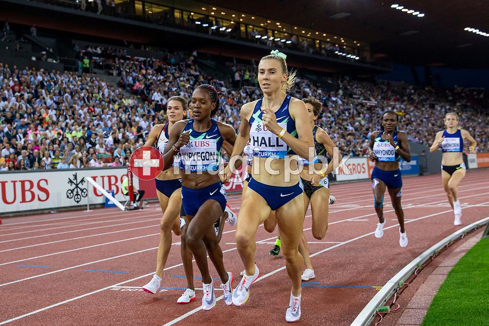 Faith Kipyegon (C) of Kenya on her way winning the 1500m Women during the Iaaf Diamond League meeting (Weltklasse Zuerich) at the Letzigrund Stadium in Zurich, Switzerland, Thursday, Sept. 9, 2021. (Photo by Patrick B. Kraemer / MAGICPBK)
