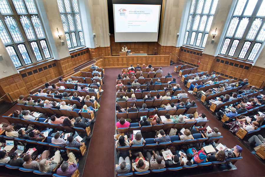 Photo by Mara Lavitt<br /> June 15, 2017<br /> New Haven, CT<br /> The 2017 ALA (African Literature Association) Annual conference held at Yale University. Keynote speech by Simon Gikandi in Levinson Auditorium, Yale Law School.