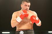 Boxing: Cruiserweight, WBO European Championship, Nuri Seferi (ALB) - Tamas Lodi (HUN), Hamburg, 16.05.2014<br /> Nuri Seferi (ALB)<br /> ©Torsten Helmke